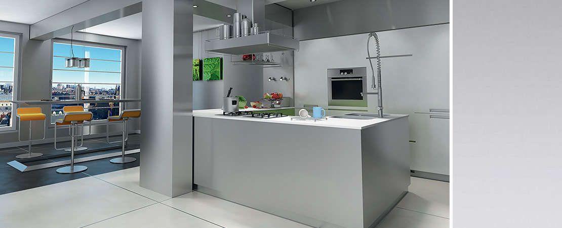 cucina moderna con pannelli in alluminio Starline Dekodur